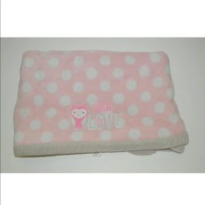 Carters Just One You Little Love Pink Owl Blanket